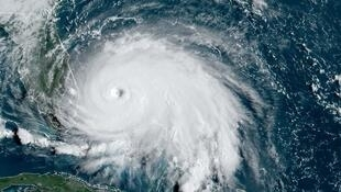 A satellite image of last year's Tropical Storm Dorian.