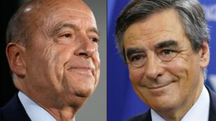 فاز فرانسوا فيون (يمين) بـ 66,5% من الأصوات في الانتخابات التمهيدية لليمين الفرنسي مقابل 33,5% لآلان جوبيه (يسار)