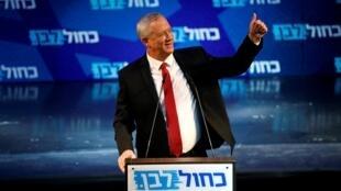 بيني غانتس في تجمع انتخابي في تل أبيب - 15 سبتمبر/أيلول 2019