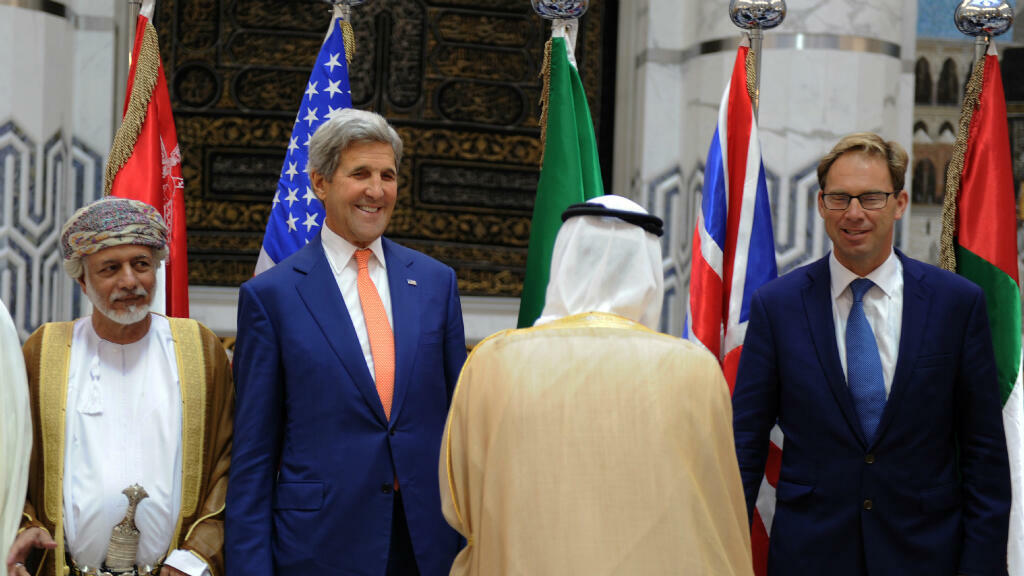 Le secrétaire d'État américain,  John Kerry s'est exprimé lors d'une conférence de presse commune avec son homologue saoudien, Adel al Djoubeïr, à Djeddah.