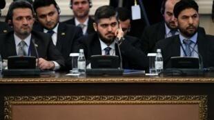 وفد فصائل المعارضة السورية في محادثات أستانة برئاسة محمد علوش 23 ك2/يناير 2017