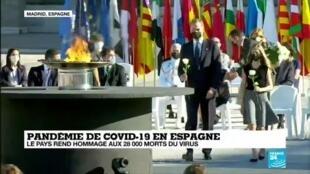 2020-07-16 12:08 Covid-19 en Espagne : Le pays rend hommage aux 28.000 morts du virus