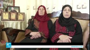 أفراد من عائلة المعتقل الفلسطيني بلال كايد