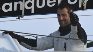 Armel Le Cléac'h savoure sa victoire sur le Vendée Globe.