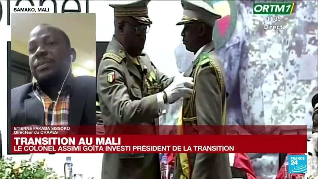 2021-06-07 14:03 Assimi Goïta investi président de transition du Mali : va-t-on toujours vers des élections en 2022 ?