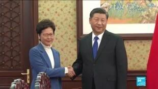 2019-12-16 14:11 China's Xi gives Hong Kong leader 'unwavering support'