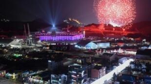 حفل ختام دورة الألعاب الاولمبية الشتوية في بيونع تشانغ، 25 شباط/فبراير 2018.