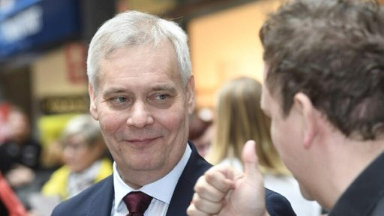 المرشح الاشتراكي الديمقراطي للانتخابات التشريعية الفنلندية انتي ريني. 13 أبريل/نيسان 2019.