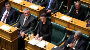 La primera ministra, Jacinda Ardern, durante su discurso en el Parlamento de Wellington, Nueva Zelanda. 19 de marzo de 2019.