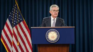 El presidente de la Reserva Federal, Jerome Powell, celebra una conferencia de prensa luego de la reunión del Comité Federal de Mercado Abierto en Washington, Estados Unidos, el 18 de septiembre de 2019.