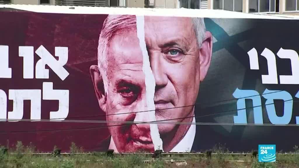 2021-03-21 13:39 Israel: opositores de Benjamín Netanyahu salieron a protestar antes de las elecciones