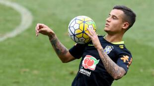 Coutinho en una imagen de archivo con la selección brasileña. 9/11/17