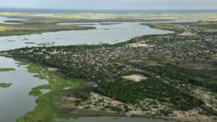 Vue aérienne du lac Tchad en juillet 2016.