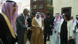 Le président Barack Obama et le roi Salmane d'Arabie saoudite, photographiés à Riyad, le 20 avril 2016.