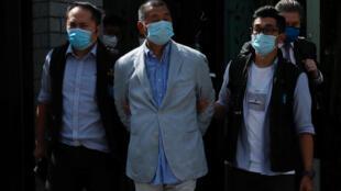 Jimmy Lai, le fondateur du journal Apple Daily, a été arrêté à Hong Kong, lundi 10 août 2020.