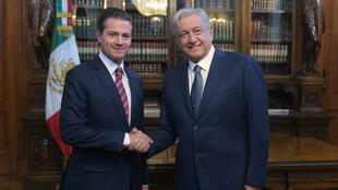 El presidente de México, Enrique Peña Nieto recibió al mandatario electo por los mexicanos, Andrés Manuel López Obrador, en el Palacio Nacional