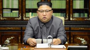 Le dirigeant nord-coréen, Kim Jong-un, a insulté Donald Trump après son discours à l'ONU, le 22 septembre 2017.