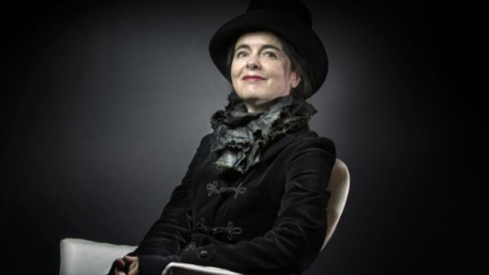 """La romancière belge Amélie Nothomb, dont le roman """"Soif"""" est en lice pour le prix Goncourt."""