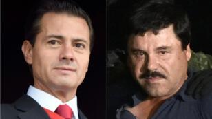 """Un témoin du procès d'""""El Chapo"""", affirme que le célèbre trafiquant de drogue aurait versé un pot-de-vin de 100millions de dollars à Enrique Pena Nieto, alors président du Mexique."""