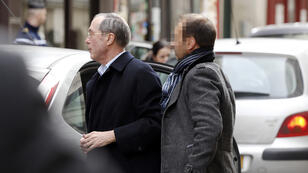 Claude Gueant arrives at the Paris anti-corruption bureau for questioning on Saturday