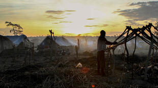 Le camp de déplacés de la ville de Kaga-Bandoro en Centrafrique, attaqué mi-octobre. Des affrontements entre bandes armées ont coûté la vie à 30 personnes.