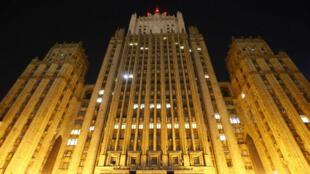 Una vista general muestra la sede del Ministerio de Asuntos Exteriores de Rusia en Moscú, Rusia, el 29 de marzo de 2018.