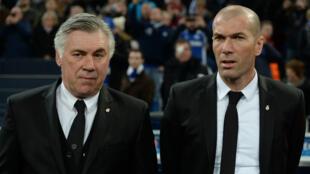Naguère asssis côte à côte, Ancelotti et Zidane se retrouvent pour un face-à-face décisif.