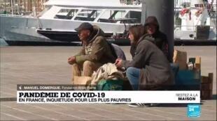 """2020-03-30 08:07 Pandémie de Covid-19 : En France, """"la situation des sans-abris est chaotique"""""""