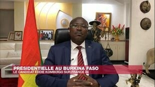 Eddie Komboïgo, candidat à la présidentielle du 22 novembre au Burkina Faso et président du Congrès pour la démocratie et le progrès (CDP)
