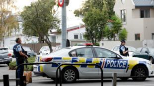 الشرطة النيوزيلندية في مدينة كرايستشيرش