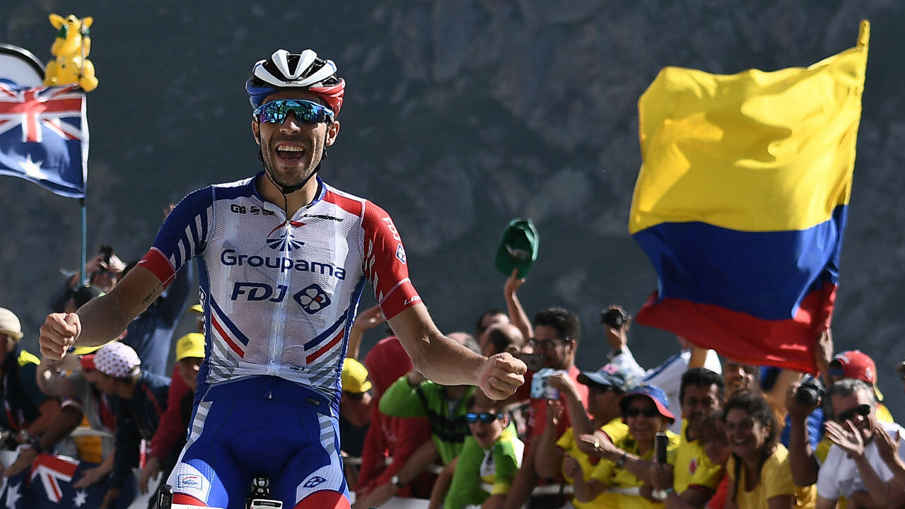 Le Français Thibaut Pinot a remporté la 14e étape du Tour de France en 2019.