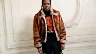 Le rappeur américain ASAP Rocky, le 23 janvier 2017 à Paris