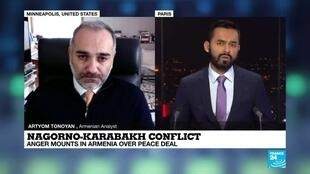 2020-11-11 21:02 Nagorno-Karabakh conflict, anger mounts in Armenia over peace deal