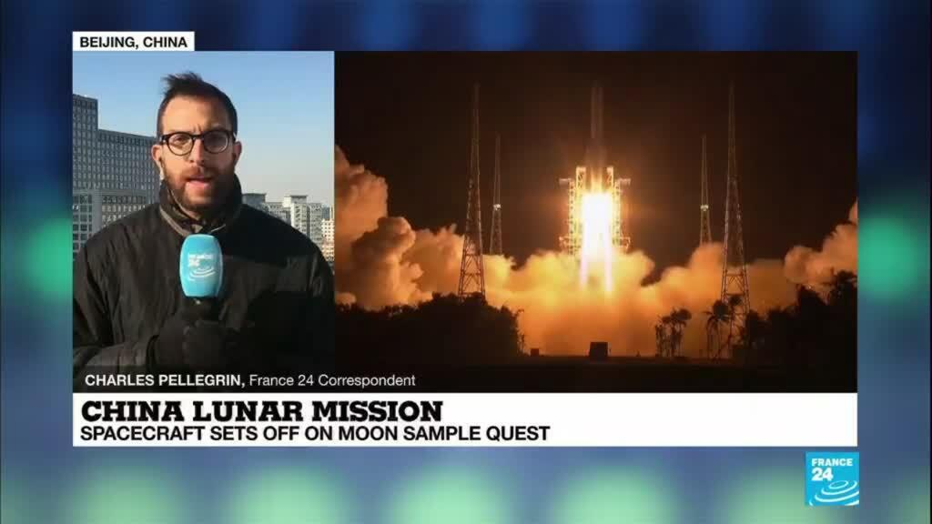 2020-11-24 08:25 China lunar mission: Spacecraft sets off on moon sample quest