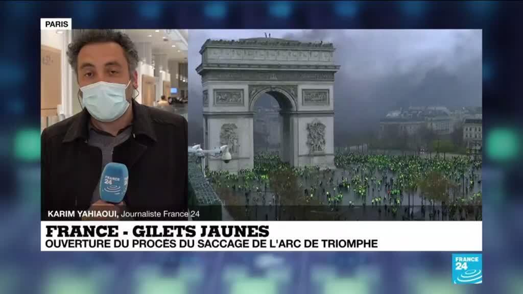 2021-03-22 13:01 Gilets jaunes : ouverture du procès du saccage de l'Arc de Triomphe