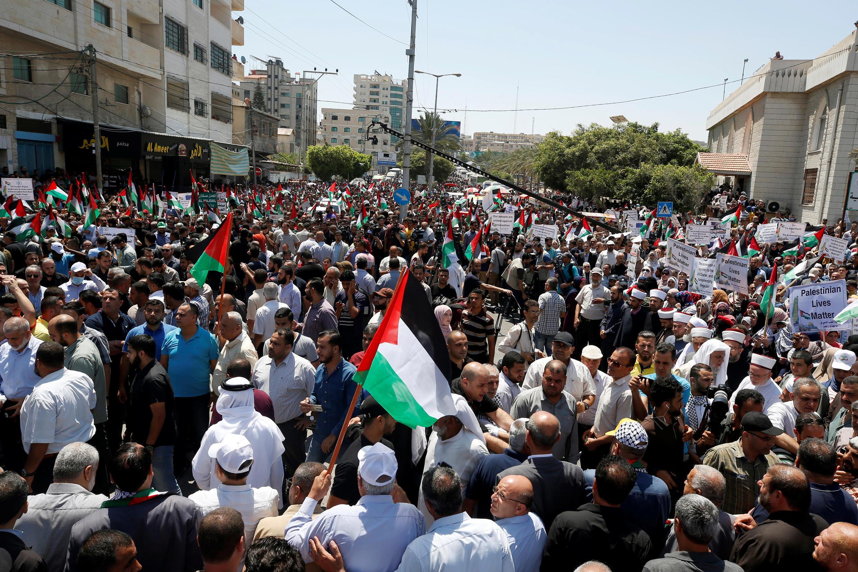 مظاهرات في غزة ضد مخطط الضم الإسرائيلي