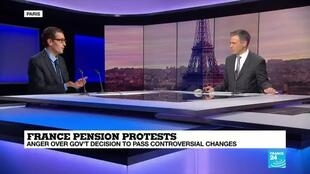 2020-03-03 18:24 Denis Baranger comments the French government's use of the 49.3 clause on France 24