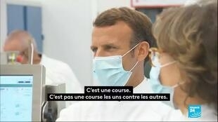 2020-06-16 14:04 Macron chez Sanofi : 610 millions d'investissement pour les vaccins en France