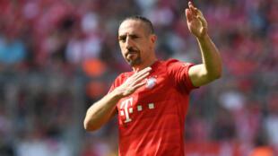 Le milieu de terrain français, Franck Ribéry, lors d'un match de Bundesliga contre l'Eintracht Francfort, le 18 mai 2019.