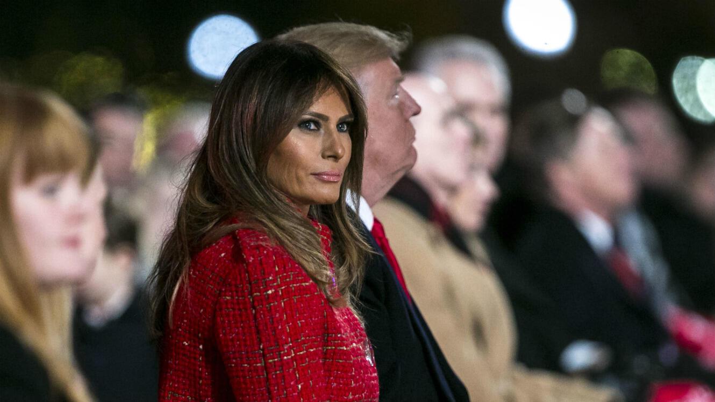 Melania et Donald Trump à Washington, le 30 novembre, pour l'inauguration des illuminations de Noël.