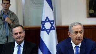 رئيس الوزراء الإسرائيلي بنيامين نتانياهو ووزير الخارجية الإسرائيلي يسرائيل كاتس