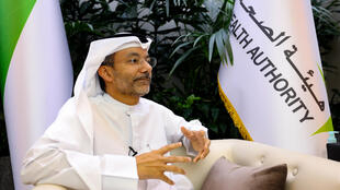 Alawi Alsheikh-Ali, deputy director general of the Dubai Health Authority (DHA), speaks during an interview with AFP on February 10