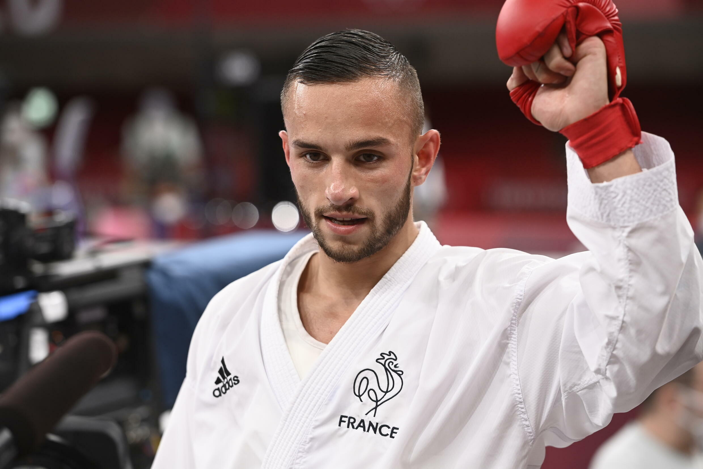 Le Français Steven Da Costa médaille d'or en karaté -67 kg aux JO de Tokyo, le 5 août 2021