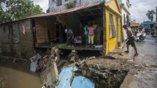Una casa destruida en República Dominicana tras el paso del huracán Isaías