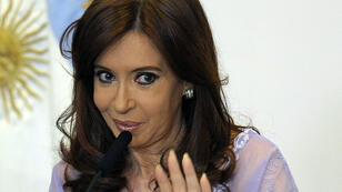 The draft of an arrest warrant for President Cristina Kirchner (pictured) was found at prosecutor Alberto Nisman's home in Buenos Aires