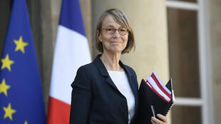 La ministre de la Culture, Françoise Nyssen, le 20 avril 2018, sortant de l'Élysée.