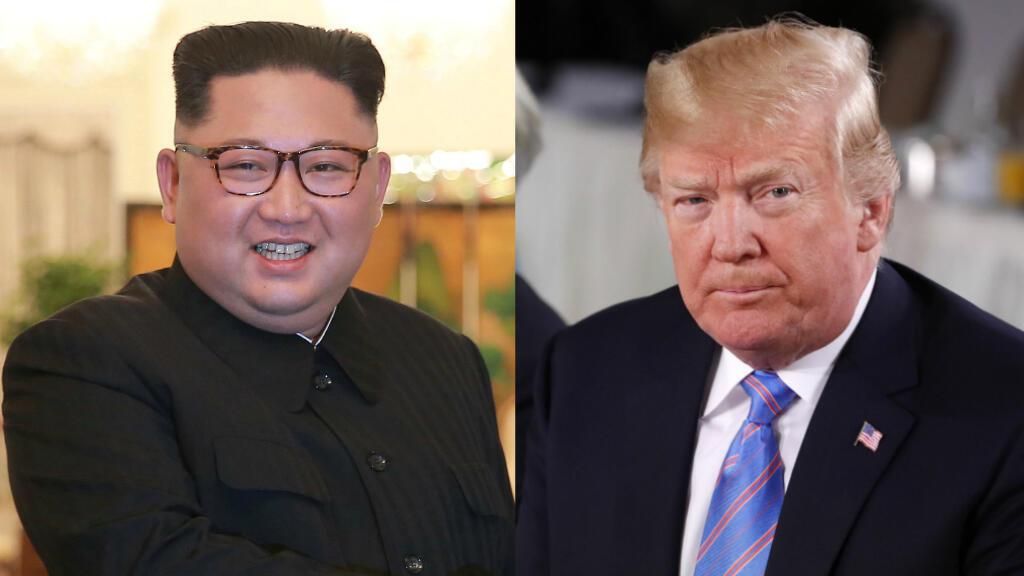 El presidente de Estados Unidos, Donald Trump y el líder de Corea del Norte, Kim Jong-un.