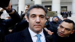 Michael Cohen, exabogado del presidente de Estados Unidos Donald Trump, sale del Tribunal Federal después de declararse culpable en Manhattan, Nueva York, el 29 de noviembre de 2018.