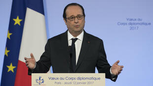 François Hollande lors de ses vœux au Corps diplomatique, le 12 janvier à l'Élysée.