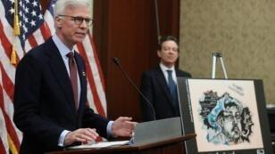 رئيس مجلس إدارة صحيفة واشنطن بوست فريد ريان متحدثا في الكونغرس الأمريكي في 10 كانون الثاني/يناير، في ذكرى مرور 100 يوم على مقتل الصحافي السعودي جمال خاشقجي